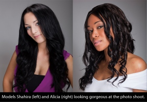 models Alicia and Shahira at dream girl photo shoot
