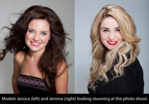 models Jessica and Jemma at dream girl photo shoot